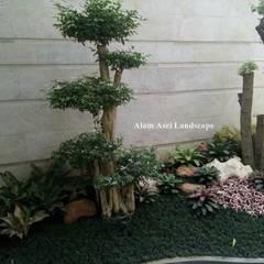 Jardines de piedra de estilo  por Tukang Taman Surabaya - Alam Asri Landscape