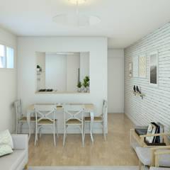 Sala de Jantar: Salas de jantar escandinavas por Otoni Arquitetura