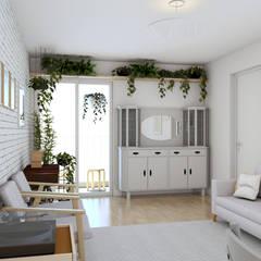 Sala de Estar: Salas de estar escandinavas por Otoni Arquitetura