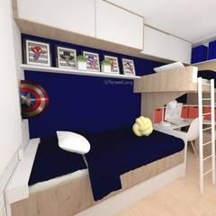 ห้องนอนเด็กชาย by Fareed Arquitetos Associados