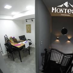 Sala de assistente : Lojas e imóveis comerciais  por Montese Engenharia