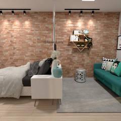 Apartamento Residencial - 24m²: Quartos  por Fareed Arquitetos Associados