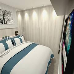 Projeto Residencial - 54m²: Quartos  por Fareed Arquitetos Associados