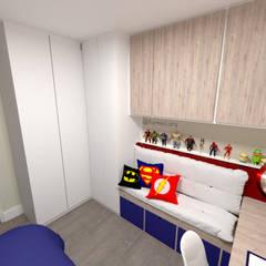 Projeto Residencial - 54m²: Quartos dos meninos  por Fareed Arquitetos Associados