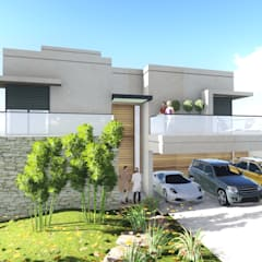 Projekty,  Dom szeregowy zaprojektowane przez Carla Pagotto Arquitetura e Design Interiores