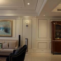 台北, 美式居家住宅案:  牆面 by G.T. DESIGN 大楨室內裝修有限公司