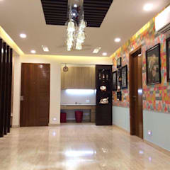 Pasillos y vestíbulos de estilo  por M.U Interiors