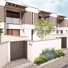 Projekty,  Dom szeregowy zaprojektowane przez 2P COSTRUZIONI srl