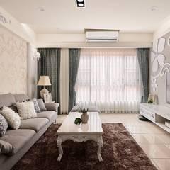اتاق نشیمن توسط趙玲室內設計, کلاسیک