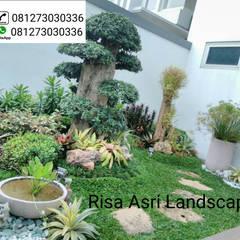 Tukang Taman Surabaya Dan Kolam Minimalis Surabaya, Risa Asri Landscape:  Ruang Komersial by Risa asri landscape