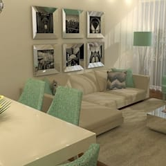 Um ambiente de convívio e de descanso...: Salas de estar  por Casactiva Interiores
