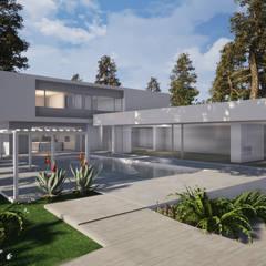 Maisons préfabriquées de style  par núcleo B arquitetos