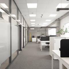 Biuro Sosnowiec : styl , w kategorii Przestrzenie biurowe i magazynowe zaprojektowany przez ANNA HIRSZBERG 'HIRSZBERG' PRACOWNIA ARCHITEKTONICZNA