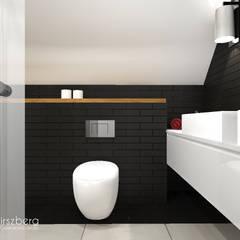 Dom pod Warszawą : styl , w kategorii Łazienka zaprojektowany przez ANNA HIRSZBERG 'HIRSZBERG' PRACOWNIA ARCHITEKTONICZNA