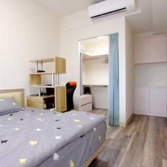 Scandinavian style bedroom by 青築制作 Scandinavian