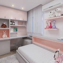 Dormitório H - AP F|L: Quartos das meninas  por Studio Base Arquitetura