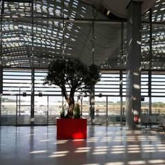 Bac à arbre STEELAB en tôlerie aluminium laqué: Locaux commerciaux & Magasins de style  par ATELIER SO GREEN