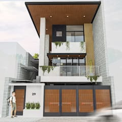 3-Storey Residence in BGC Taguig:  Single family home by Structura Architects,