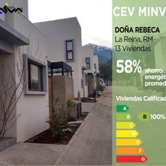 Calificación Energética Viviendas, condominio Doña Rebeca: Casas ecológicas de estilo  por Pasiva