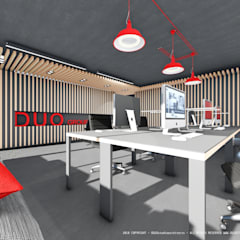 Espaço de trabalho com design e conforto: Escritórios e Espaços de trabalho  por OGGOstudioarchitects, unipessoal lda