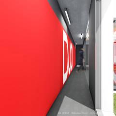 Sede da empresa Duo Group Corredores, halls e escadas industriais por OGGOstudioarchitects, unipessoal lda Industrial Betão