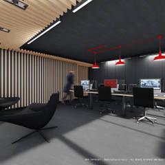 Espaço de trabalho e recepção: Escritórios e Espaços de trabalho  por OGGOstudioarchitects, unipessoal lda