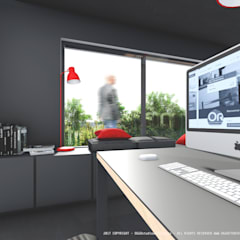 Pormenor interior: Escritórios e Espaços de trabalho  por OGGOstudioarchitects, unipessoal lda