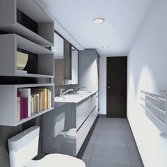 BAÑO GERENCIA: Baños de estilo  por Plano 13