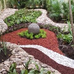 Jardines con piedras de estilo  por David Araiza Pérez DAP Diseño,  Arquitectura  y Paisaje