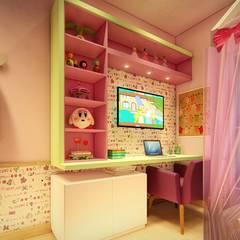 Dormitório Infantil: Quartos das meninas  por 1001 Projetos Online