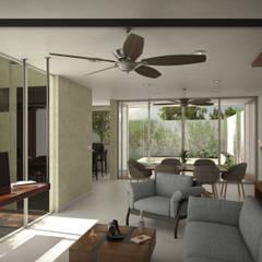 Casa CR1: Maison individuelle de style  par CR Atelier