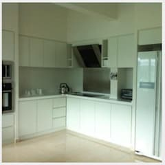 Interior Design and Renovation for Condominium:  Built-in kitchens by Atmosphere Axis Sdn Bhd