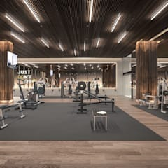 modern Gym by Rapzzodia Interiorismo