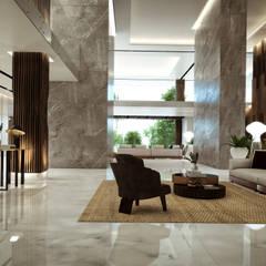 Skadia Luxury Towers : Estudios y oficinas de estilo  por Rapzzodia Interiorismo,