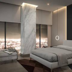 Skadia Luxury Towers : Recámaras de estilo  por Rapzzodia Interiorismo,
