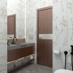 Красногорск: Ванные комнаты в . Автор – Частный дизайнер Анастасия Король