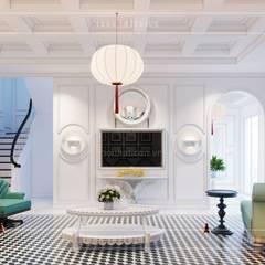 Thiết kế biệt thự theo phong cách Đông Dương - Vẻ đẹp giá trị thời gian:  Phòng khách by ICON INTERIOR