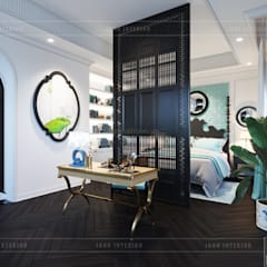 Thiết kế biệt thự theo phong cách Đông Dương - Vẻ đẹp giá trị thời gian:  Phòng ngủ by ICON INTERIOR