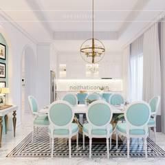 Thiết kế biệt thự theo phong cách Đông Dương - Vẻ đẹp giá trị thời gian:  Phòng ăn by ICON INTERIOR