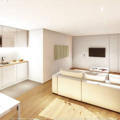 modern Living room by OGGOstudioarchitects, unipessoal lda