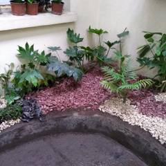 Patio interior Hospital Lucio Córdoba: Jardines de invierno de estilo  por Naturae EIRL, Moderno