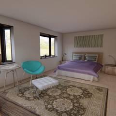 Diseño de vivienda campestre 120 m2: Dormitorios de estilo  por Ekeko arquitectura  - Coquimbo