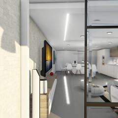 Remodelacion y diseño interior para apartamento: Terrazas de estilo  por Vida Arquitectura