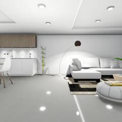 Remodelacion y diseño interior para apartamento: Salas / recibidores de estilo  por Vida Arquitectura,