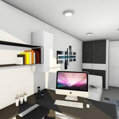 Remodelacion y diseño interior para apartamento: Muebles de cocinas de estilo  por Vida Arquitectura,