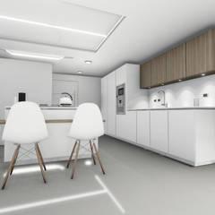 Remodelacion y diseño interior para apartamento: Muebles de cocinas de estilo  por Vida Arquitectura