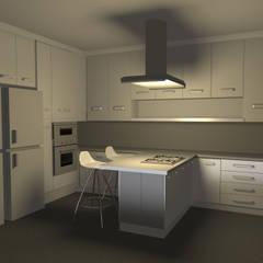 Cocina Moderna - Ilo: Cocinas equipadas de estilo  por Minimalistika.com,