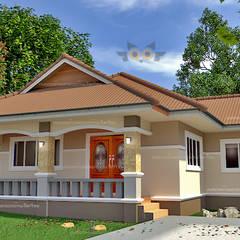 รูปโดยรวมตัวบ้าน:  บ้านสำหรับครอบครัว by แบบบ้านออกแบบบ้านเชียงใหม่
