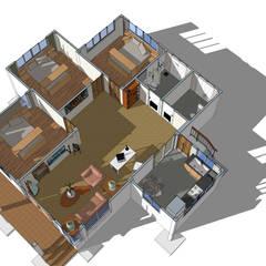 Casas multifamiliares de estilo  de แบบบ้านออกแบบบ้านเชียงใหม่