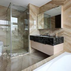冷暖沉靜 休閒況味度假宅邸:  浴室 by 木博士團隊/動念室內設計制作